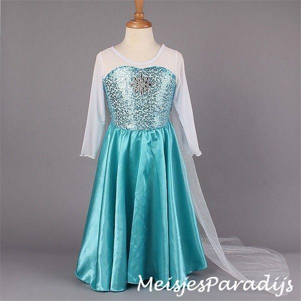 Frozen jurk prinses Elsa met sleep