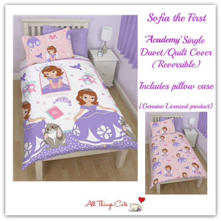 Sofia the First 'Academy' Duvets/Quilts/Doonas  Single | Polyester | Reversible #sofia #sofiathefirst