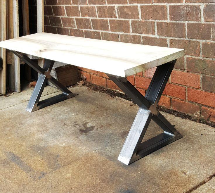 Moderna mesa de centro x patas modelo bx02 patas for Mesa de centro de metal industrial