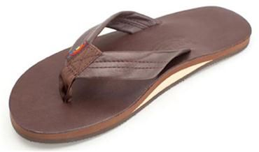 Rainbow Flip Flops - Single Layer Classic Leather with Arch Support