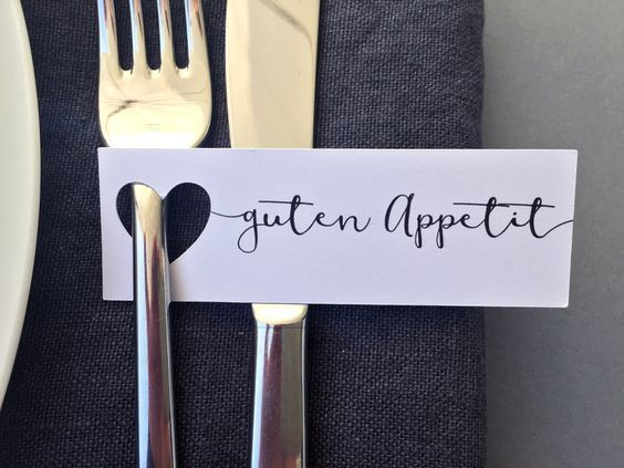 """Hochzeitsdeko – 10 """"Guten Appetit""""-Anhänger mit a…"""