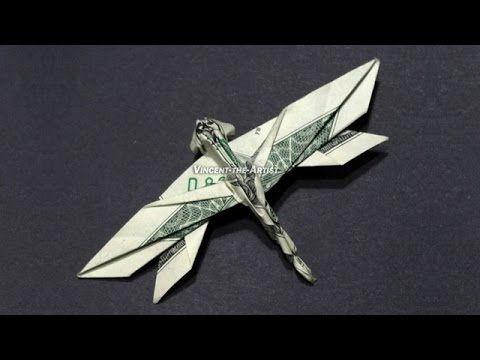 Money Origami Dragonfly - Dollar Bill Art