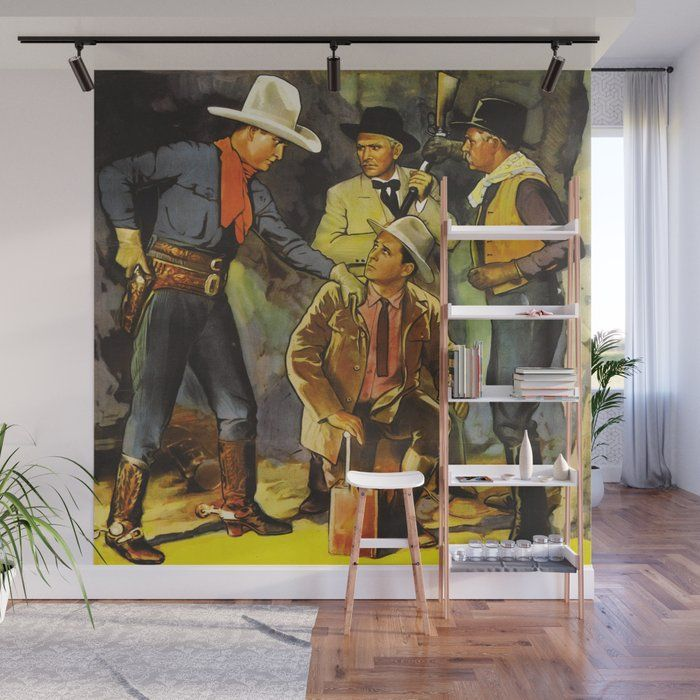 Vintage Western Cowboy Scene Wall Mural With Our Wall Murals You Can Cover An Entire Wall With A Rad Design Just Line Up Vintage Western Wall Murals Mural