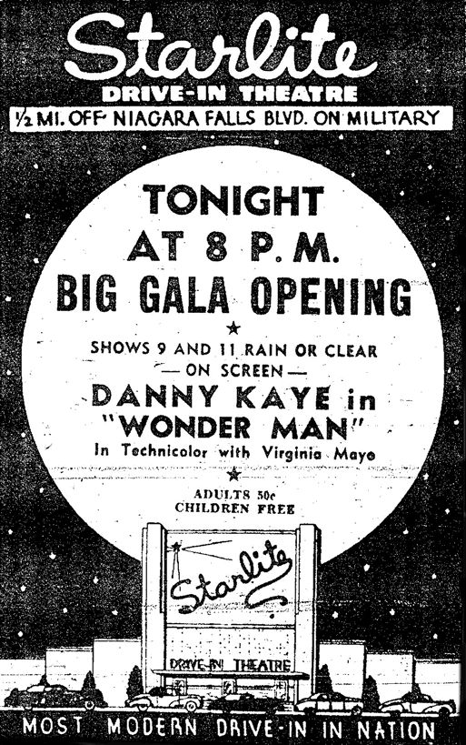 http://www.newyorkdriveins.com/westernnewyorkregion/starlite/starlite.php  Starlite Drive In, Niagara Falls NY Vintage Type 15/15