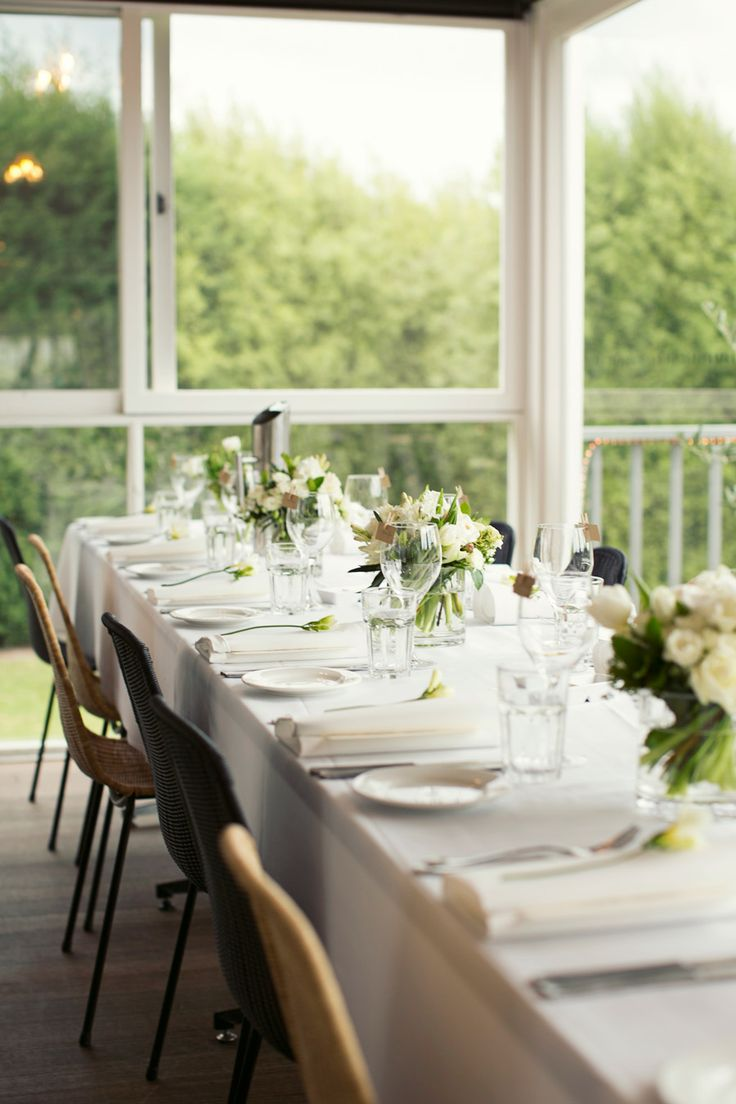 Elegant and simple table set up  Weddings at Stillwater at Crittenden www.stillwateratcrittenden.com.au