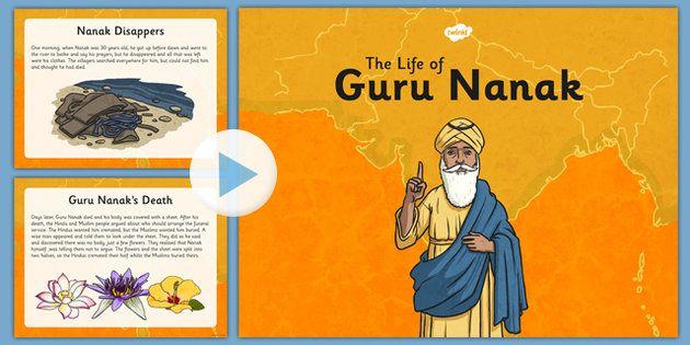 Guru Nanak Information Powerpoint - An informative PowerPoint presentation to use to teach your children about the story of Guru Nanak