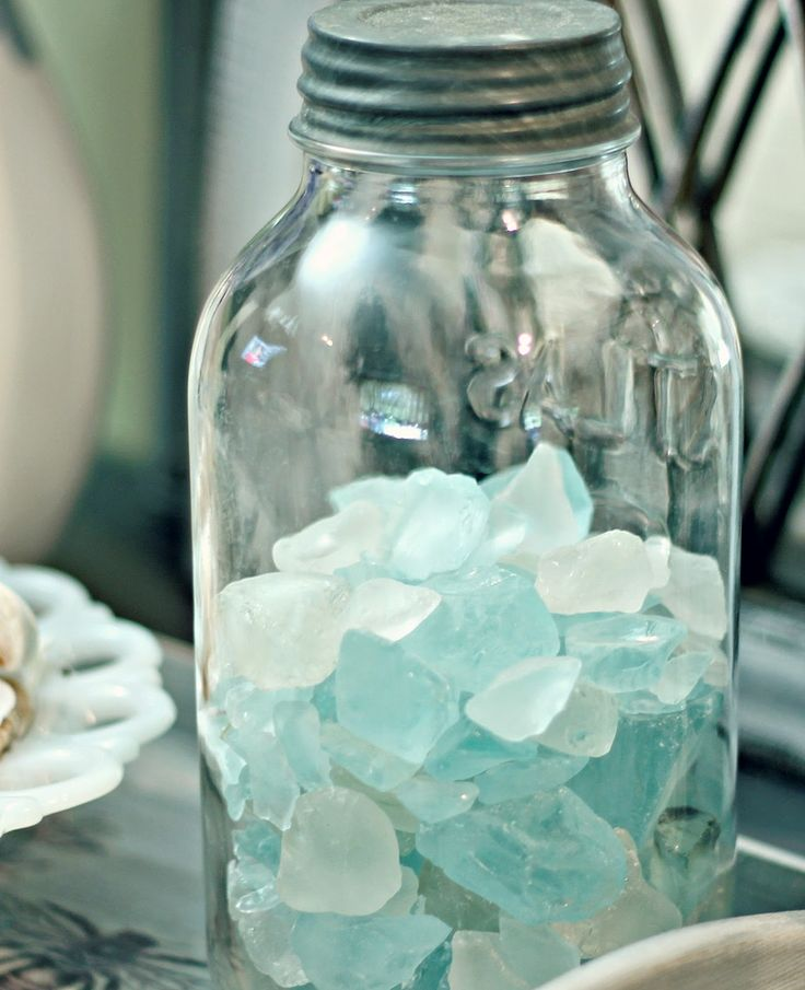Jar of sea glass