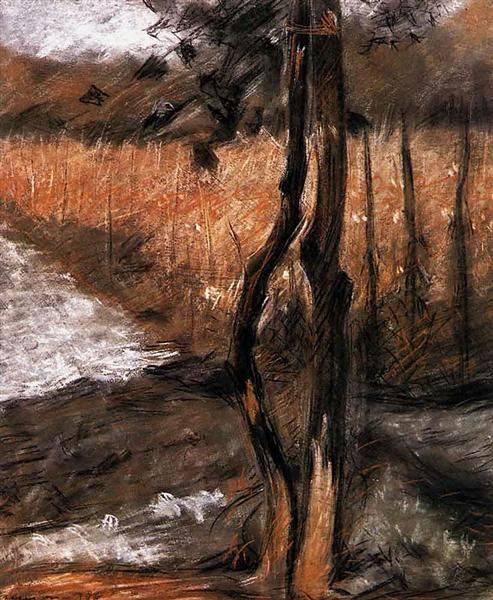 Árboles, 1908 - Umberto Boccioni. Divisionismo