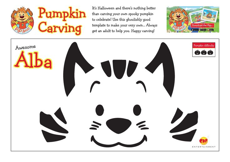 Use these ghoulishly good template to carve your very own Awesome Alba Pumpkin! Always get an adult to help you! #Halloween #HappyCarving #AwesomeAlba