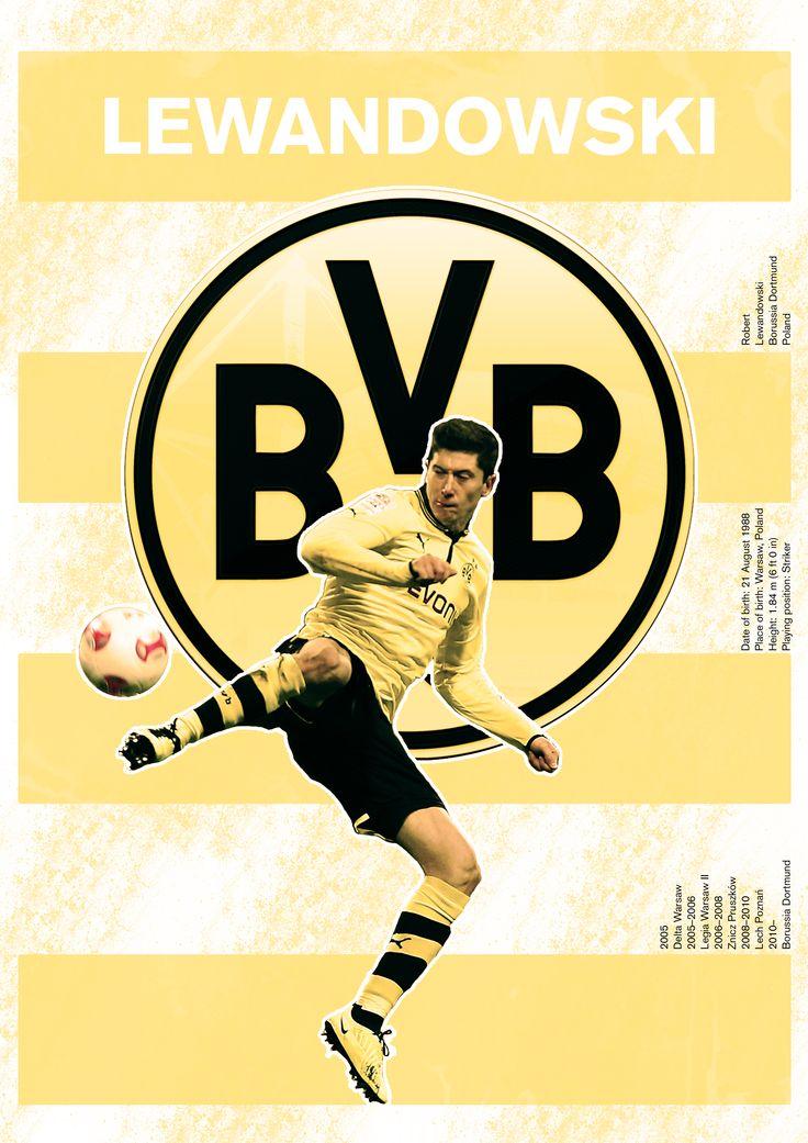 The Lewandowski/Dortmund poster