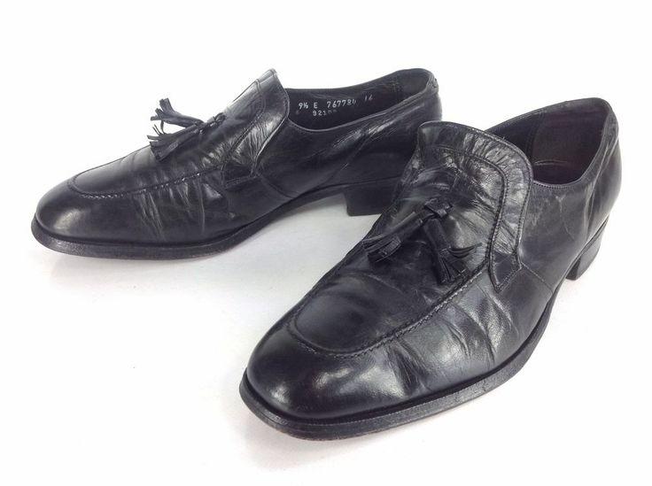 Florsheim Imperial Mens Shoe Black Leather Oxford Cap Toe Lace Dress 9.5