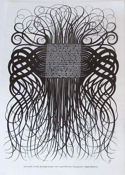 Graphic Designer and type designer Marian Bantjes