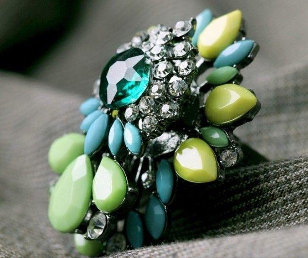 Light Green Gem Statement Ring
