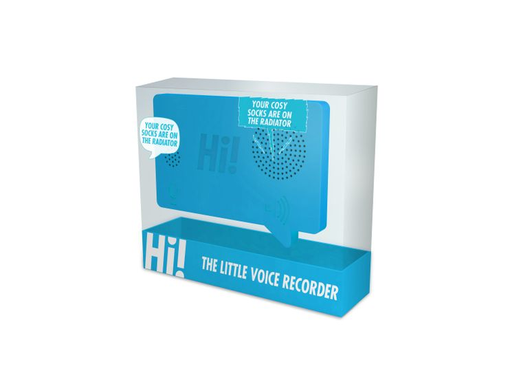 voicerecorder - Spreek een berichtje in voor elkaar! Magnetische voicerecorder met 30 seconden opnametijd.