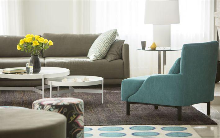 Download wallpapers 4k, modern design, stylish interior, hallway, light room, modern apartment, interior idea