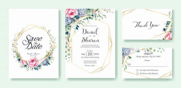 Wedding Invitations Template Free Luxury Wedding Invitation Card Template Vector Invitation Card Format Rsvp Wedding Cards Wedding Invitation Cards