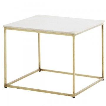 Madam Stoltz bord soffbord marmor mässing