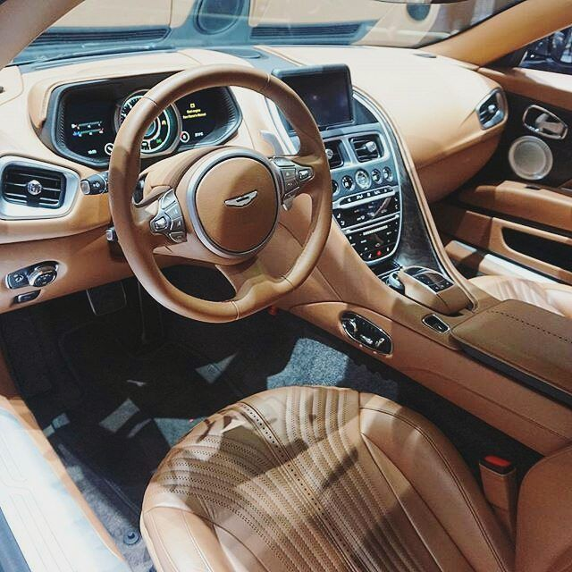 Aston Martin DB-11 Interior. Tag A Friend Who Would Like To Drive This Beauty.  Follow: @4klifestyle  #4klifestyle  credit to respective owner by Ed Zimbardi http://edzimbardi.com
