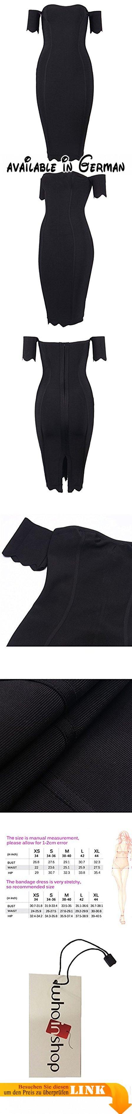 Whoinshop Damen weg von der Schulter Trägerloses Schulterfrei Partykleid Figurbetontes Kleider (XS, Schwarz). Material: 90% Viskose, 9% Nylon und 1% Elasthan. Dicke, glänzend und sehr dehnbar. Nur chemische Reinigung. Importiert. All Over Verband Bau.. Schönes und stilvolles Kleid, für alle Gelegenheiten und Veranstaltung.Perfekt für den Sommer und Frühling, denn in diesem Stoff werden Sie nicht schwitzen. Aufgrund der guten Qualität und dem besonderen Stil werden