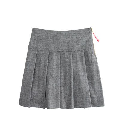 J.Crew - Girls' pleated flannel skirt