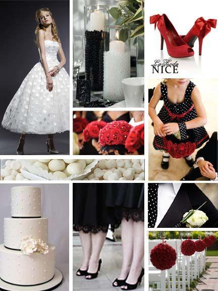 Boda Rojo / Negro / Blanco  Red / Black / White Wedding