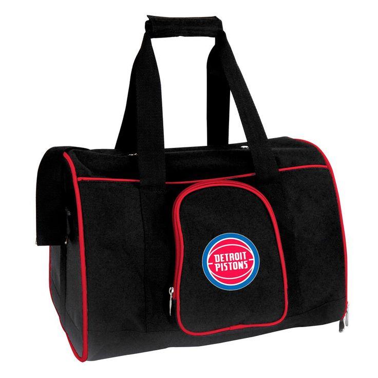 NBA Detroit Pistons Pet Carrier Premium 16 in. Bag in Red