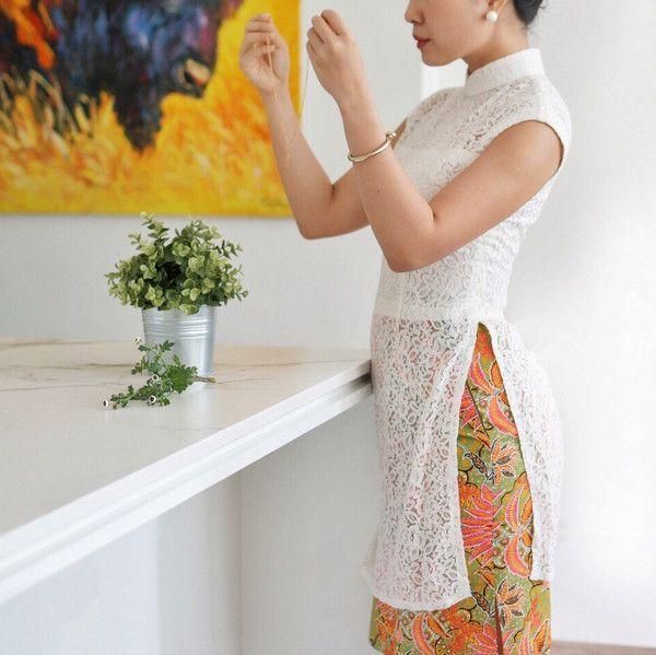 Pre-Order: The Southerner in White and Batik