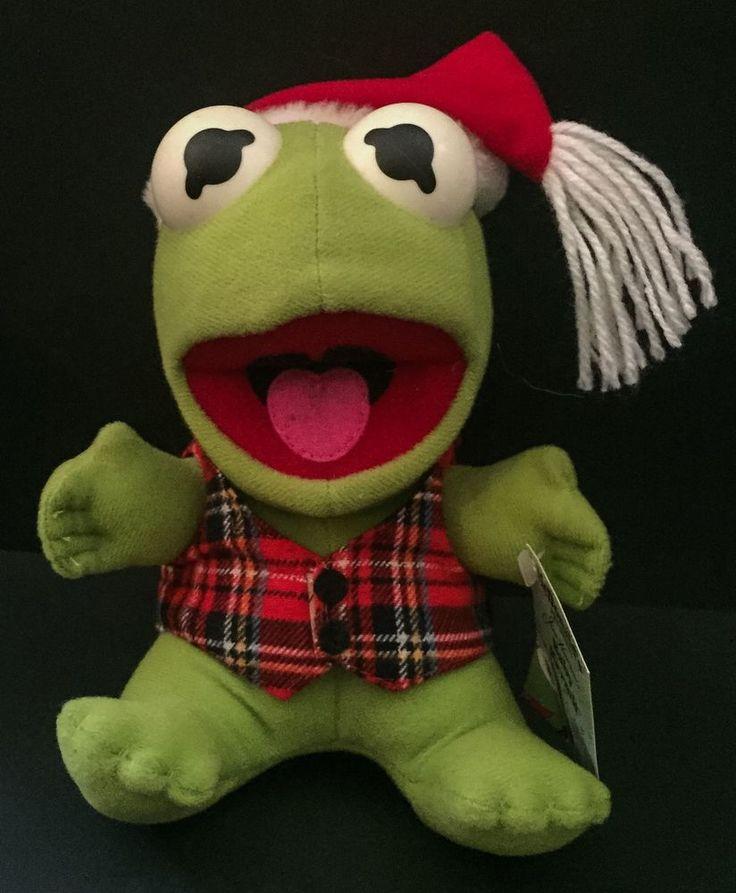 McDonald's Kermit Frog Vtg Christmas Plush Holiday Stuffed Animal Muppet Baby #HensonAssociates