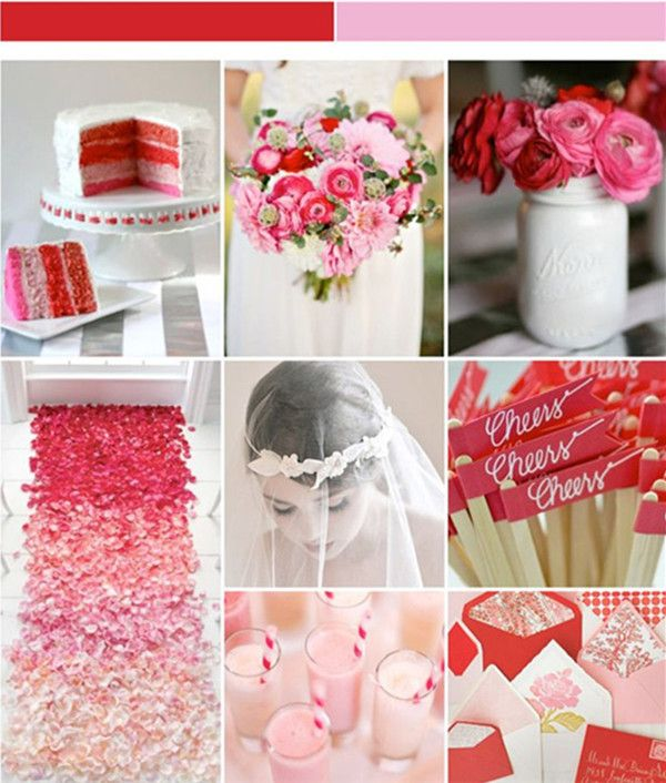 28 Best Valentine Bride Images On Pinterest Red Wedding Wedding