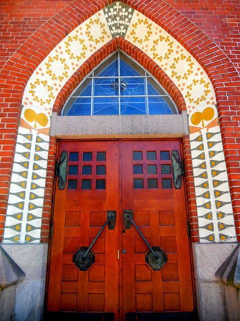 Maybe the answer's behind door number 3 Mikaelin Kirkko Turku Finland