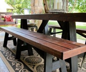 13 Amazing Outdoor Dining Set With Bench Ideas