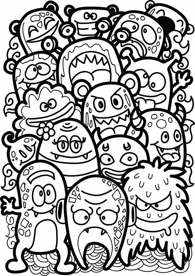 Doodle Cute Monster in 2020 (With images) | Graffiti ...