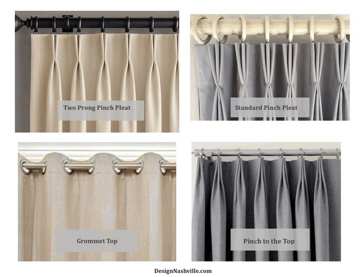 Types Of Drapery Tops Pinch Pleat Is The Same As French Pleat Two Prong Pleats Are Good For Show Custom Drapery Designs Pinch Pleat Curtains Drapery Designs
