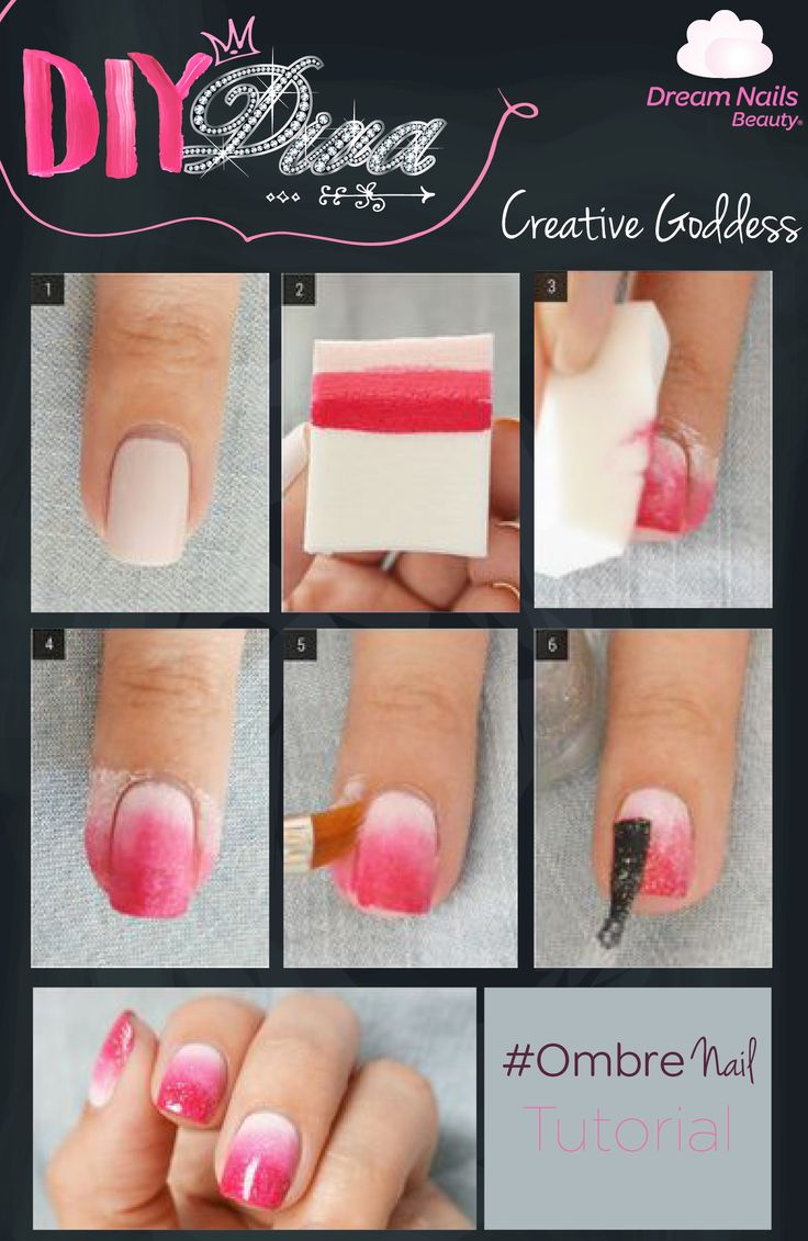 Valentine's Day is approaching, and what better way to celebrate it the glam way, than with this pretty pink Ombre Nail tutorial? #Glam #Ombre #ValentinesDay #DivaNails