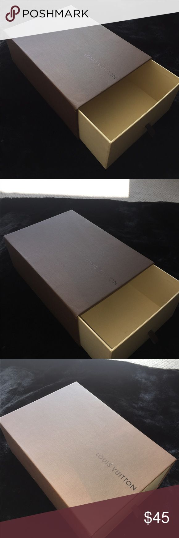 Large Louis Vuitton Drawer Box Large LV box. Can fix a large clutch, pair of shoes, or small handbag, etc! Beautiful Drawer type box, great to have in your closet. :) Louis Vuitton Other