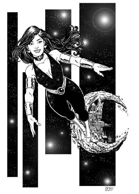 DONNA TROY, in ALEXGARCIAs BLACK AND WHITE Comic Art Gallery Room - 1004350
