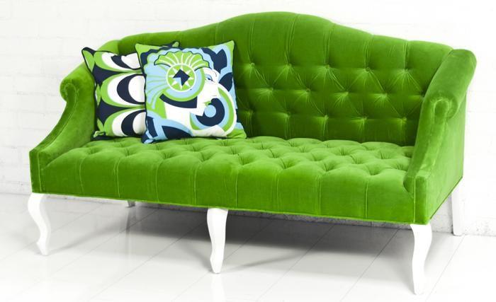 Mademoiselle Sofa In Poison Green Velvet For The Home