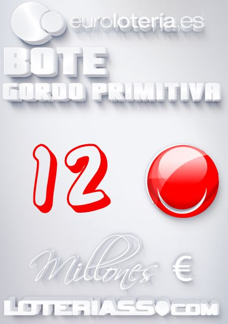 Gordo Primitiva, Bote, 12 Millones €, Domingo 26/01/2014