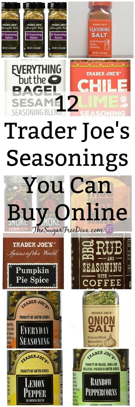 12 Trader Joe's Seasonings You Can Buy Online- Trader Joe Stores are so popular yet, not everyone has one nearby. This is how you can buy products online.