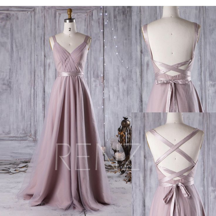 2017 Mauve Bridesmaid Dress Convertible Straps, A Line Wedding Dress,Draped Prom Dress, Backless Evening Gown, Long Formal Dress (JS081) by RenzRags on Etsy https://www.etsy.com/listing/480738663/2017-mauve-bridesmaid-dress-convertible