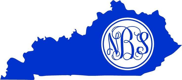 Details About Personalized Kentucky Vine Monogram Vinyl