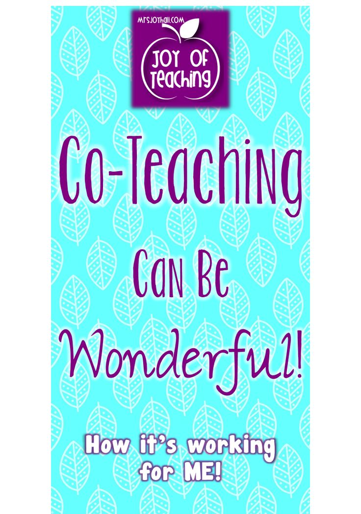 Co-Teaching!  Joy of Teaching  -  mrsjoyhall.com