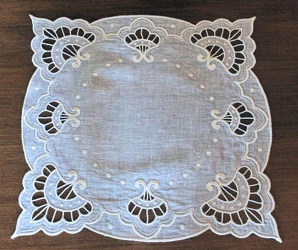 """Brussels"" A beautiful doily inspired by the early 20th century. This will look splendid and elegant on any end table!"
