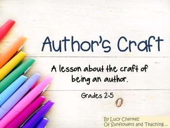 Looking to teach your students about how to spice up their writing?  Explain an author's reasoning for employing various forms of craft?  Teaching students how to dress up their work?  This is a PPT presentation that will help students recognize that author's make choices that make what they write more interesting.  *Engaging PPT *Cute animated graphics*Sound effects*No prep lesson!