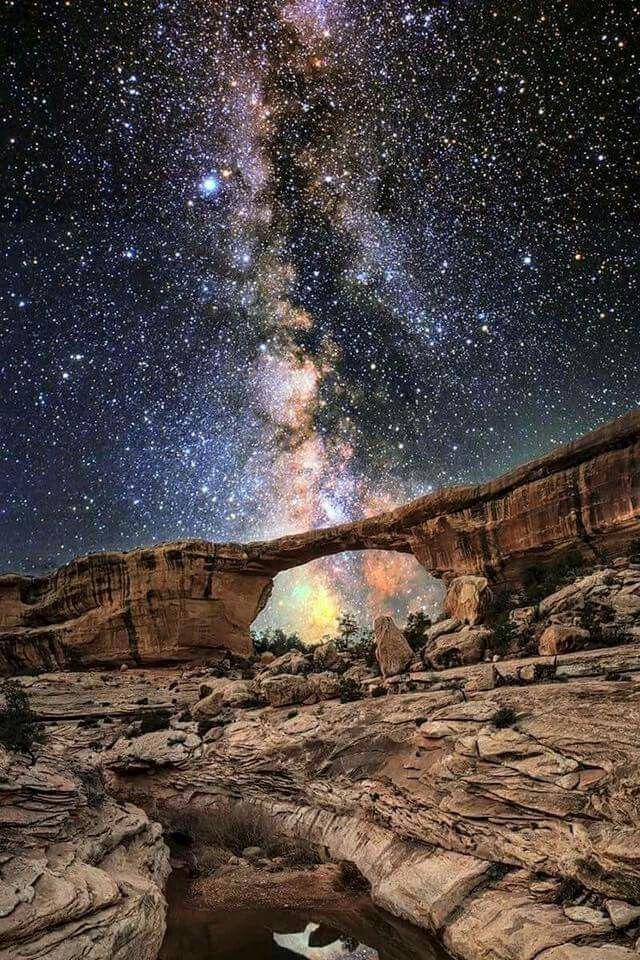 Arches under the Milky Way
