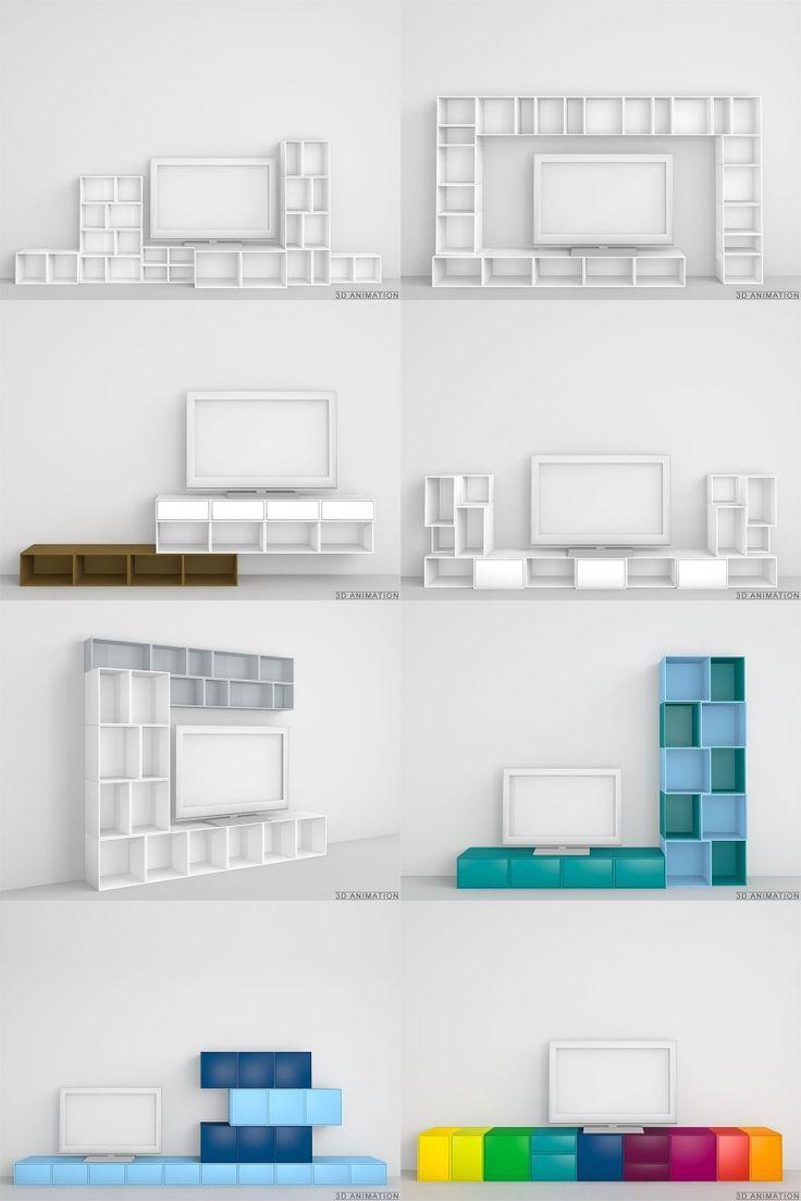 Les 25 meilleures id es concernant meuble tv modulable sur for Meuble tv hamburg 03b
