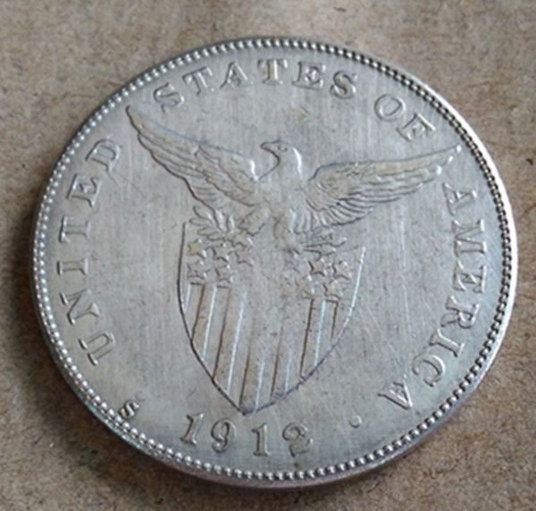 US $1.80 1912-s Philippines 1 Peso U.S. Administration Copy Silver Coin #1912-s #Philippines #Peso #U.S. #Administration #Copy #Silver #Coin