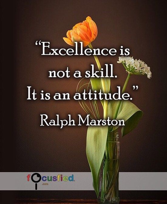 Excellence is not a skill.  It is an attitude. #Quotes #Positivity https://www.focusfied.com