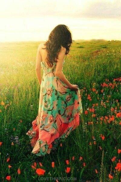 Beautiful Summer Dress fashion summer colorful flower dress style boho print long