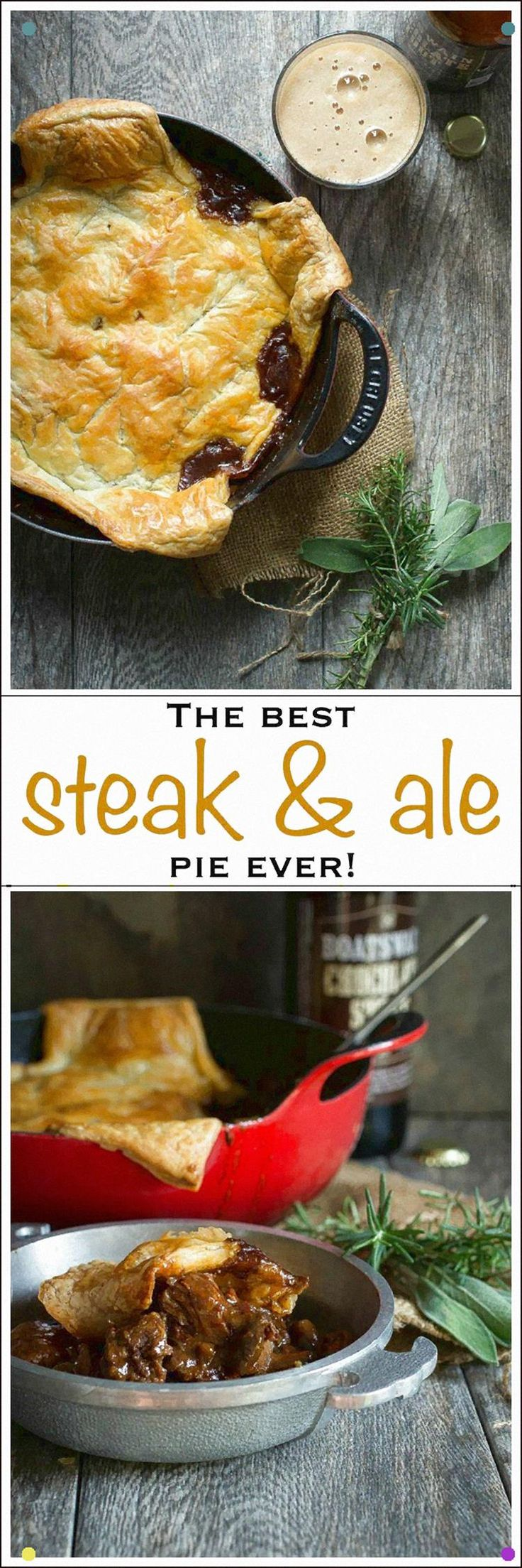 This Steak And Ale Pie Is Thick And Rich With Flavor ...